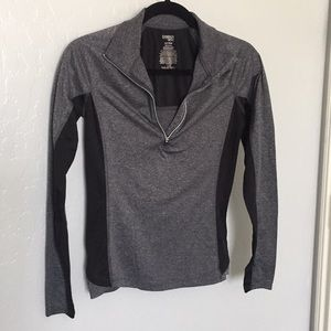 Danskin NOW Gray and Black Athletic Pullover